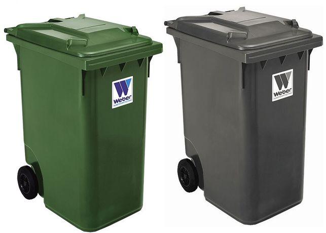 Контейнер для сміття. Пластиковий контейнер для сміття