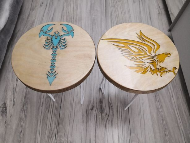 taboret, stołek, żywica epoksydowa