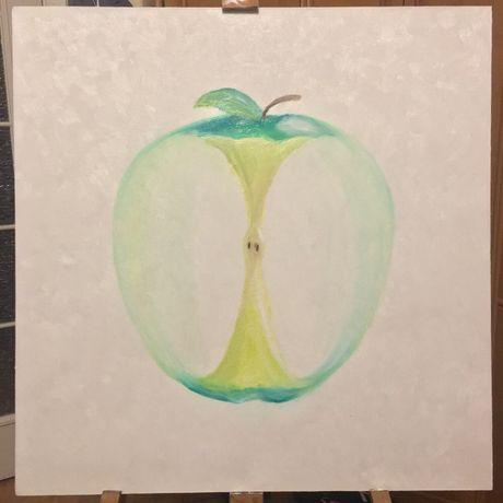 Картина маслом, яблоко со смыслом