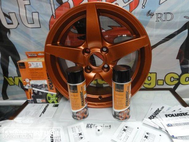 Kit de Tinta plastica Foliatec em spray 2 x 400ml Cobre Metalico temos 30 cores em stock