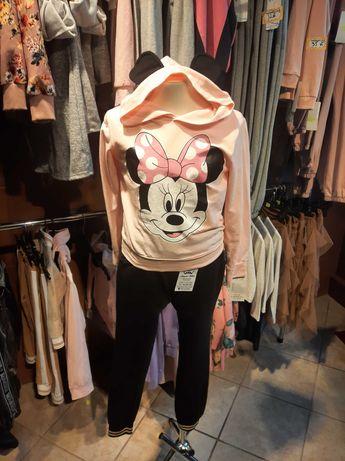 Bluza myszka minne z uszami kolor fioletowy i różowy