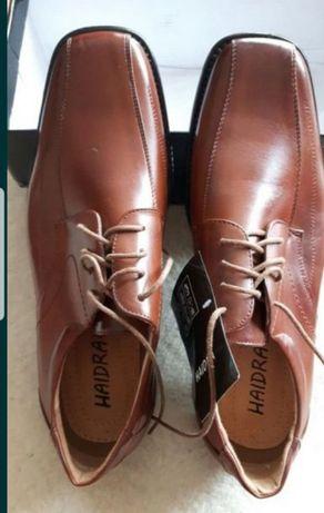 Nowe buty męskie 45 skóra brąz