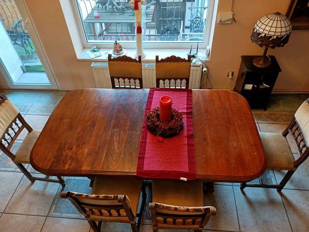Drewniany zestaw  stół i krzesła