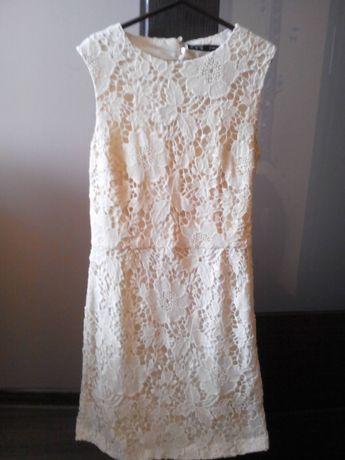 Sukienka ecurie bez pleców ZARA