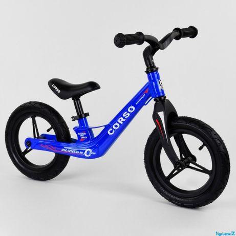 Велобег Corso колеса 12, 14 надувные, магниевая рама беговел
