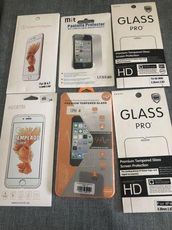 Peliculas de vidro para Iphone 4 e outros novas