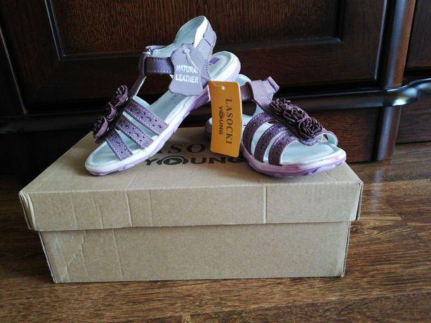 Sprzedam nowe sandałki ze skóry dla dziewczynki Lasocki Kids rozmiar27