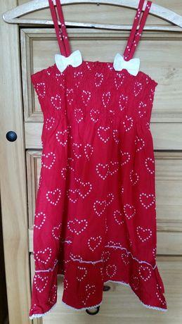 Nowa czerwona letnia sukienka 6-7 lat 116 122