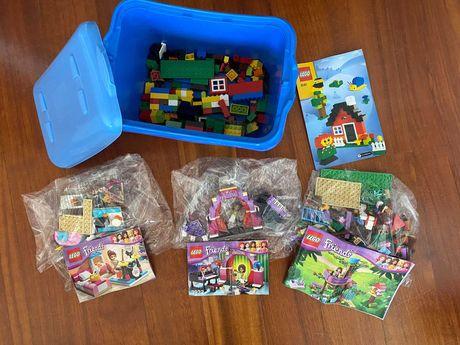 Lego - 4 conjuntos e caixa arrumação