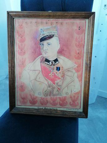 Gen Sikorski II RP rogatywka mundur odznaka orzeł orzełek