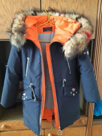 Куртка зимняя парка девочка подросток 10 - 11 лет
