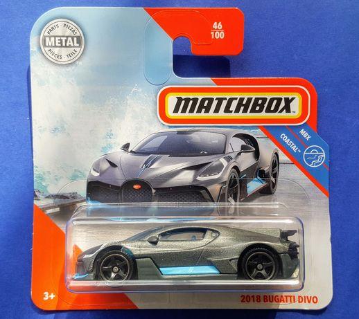 машинка моделька '18 Bugatti Divo (Matchbox, 2020) новая 1/64