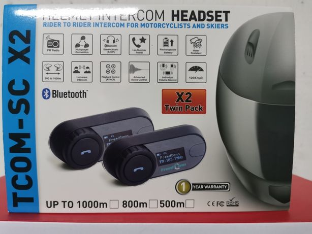 2-Auriculares/intercomunicadores Bluetooth, /RADIO,capacete/motas(NOVO