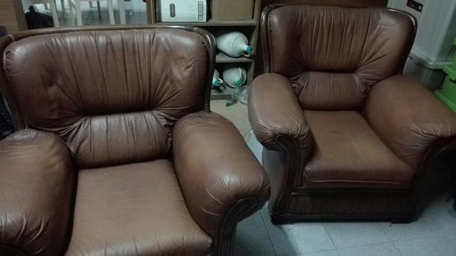 Sofas de couro antigos