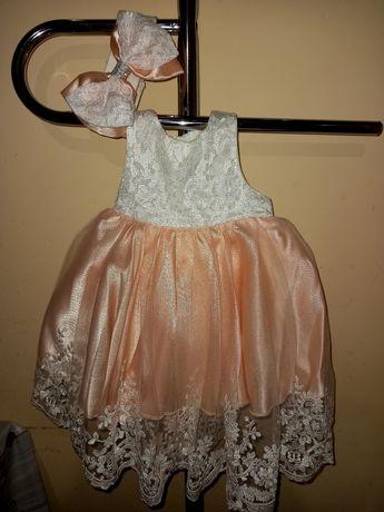 Пышное нарядное платье(выписка,крестины,фотосессия) 0-5месяцев,до 68см
