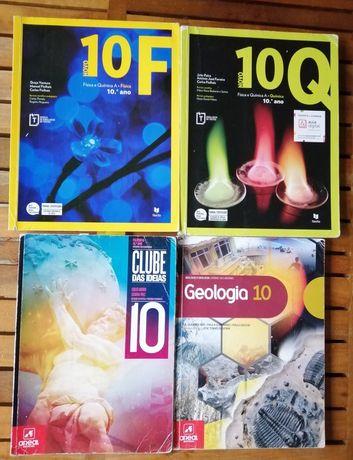 Livros escolares 10 ano em bom estado clube das ideias 10, novo 10 F