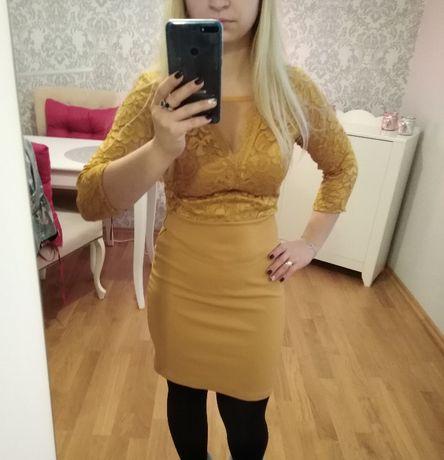 Sukienka miodowa S Nowa
