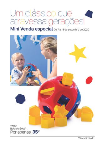 Bola com Formas para Bébé / Criança Tupperware