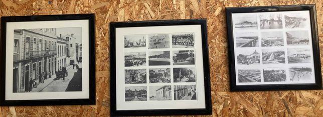 Quadros com fotos antigas de Santarém
