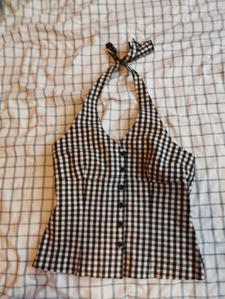 bluzka top wiązany na szyi firmy HM