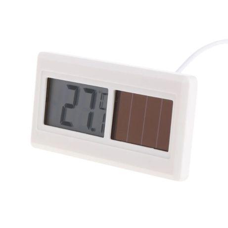 Цифровой термометр на солнечной батарее с водонепроницаемым датчиком