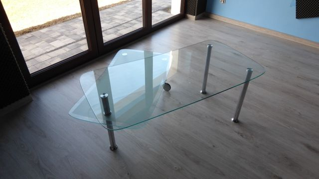 Stolik kawowy szklany 120x60