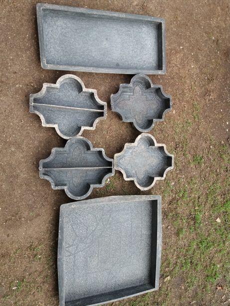 Формы для тротуарной плитки с рисунком *клевер*