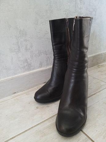 Ботинки/ботильоны коричневые кожаные женские