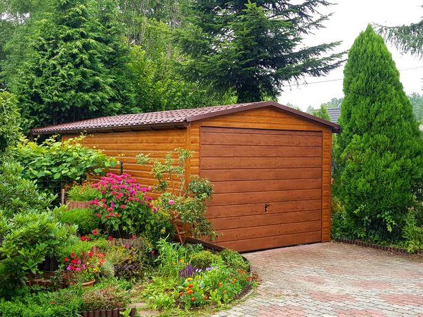 Garaże blaszane blaszaki wzmocnione profilem drewnopodobne 3x5,6x6