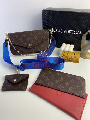 Torebka damska Louis Vuitton listonoszka premium w pudełku luksusowa