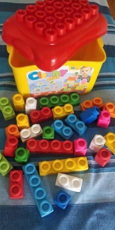 Lego blocos construção bebé soft clemmy - óptimo estado