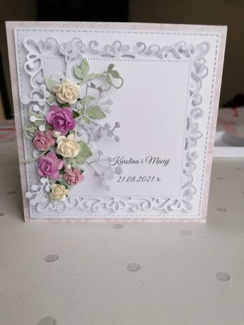 Kartka ręcznie wykonana w pudełku ślub, chrzest, komuniaji8
