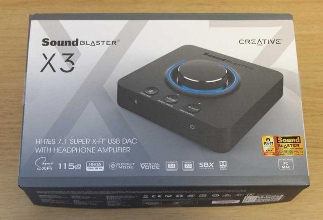 Placa de Som Externa Sound Blaster X3