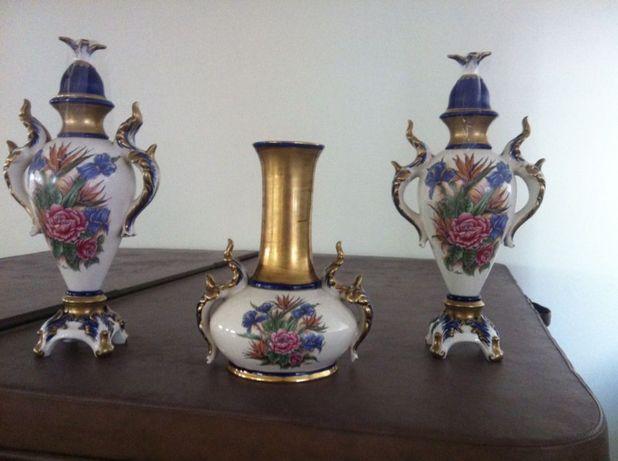 peças porcelana pintadas á mão c/certificado