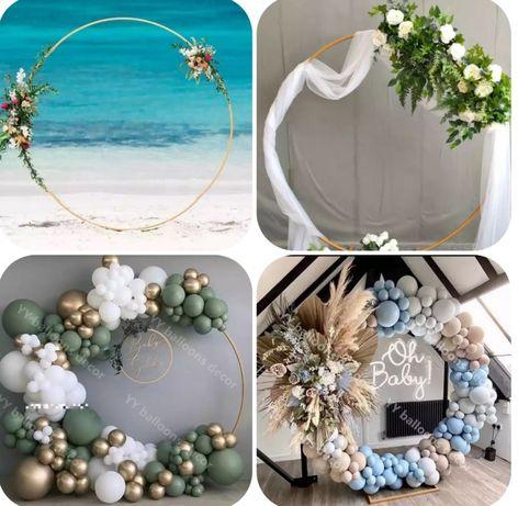 Ścianka, dekoracja, koło, obręcz, tło do zdjeć na ślub i wesele. W-wa