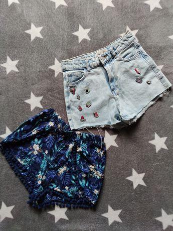 Szorty krótkie spodenki hm jeansowe vintage hm Bershka