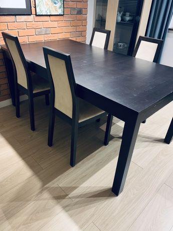 Stół rozkładany z 175x218x260 z 4 krzesłami