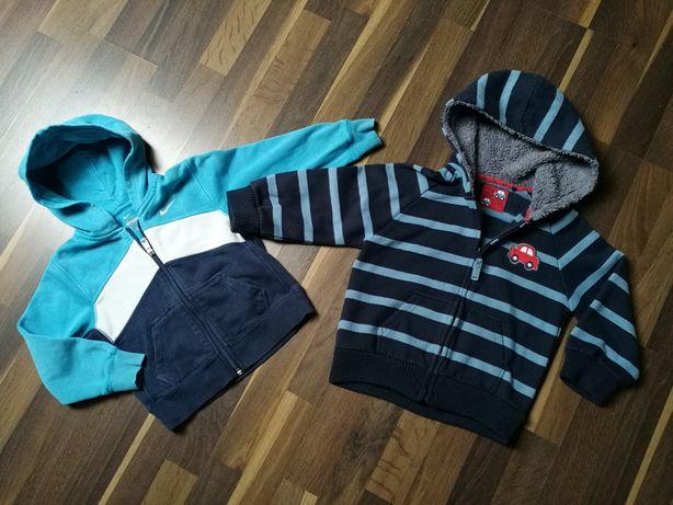 Dwie bluzy (Nike, TU), r.98/104