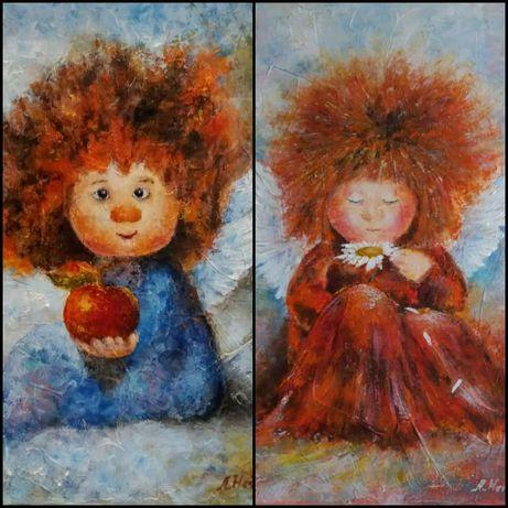 Дитячі картини на замовлення плитки сувенірні тарілки