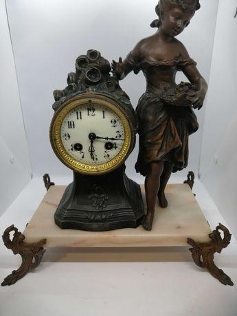 Antigo relógio de mesa Frances Japy Freres D. HONNEUR a funcionar