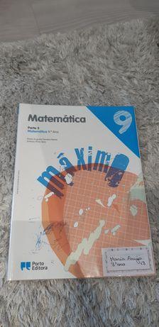 Manuais e Caderno de Exercícios- Matemática 9° ano