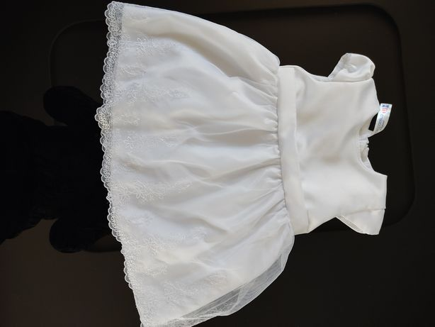 Sukienka buciki bolerko chrzciny rozm. 68