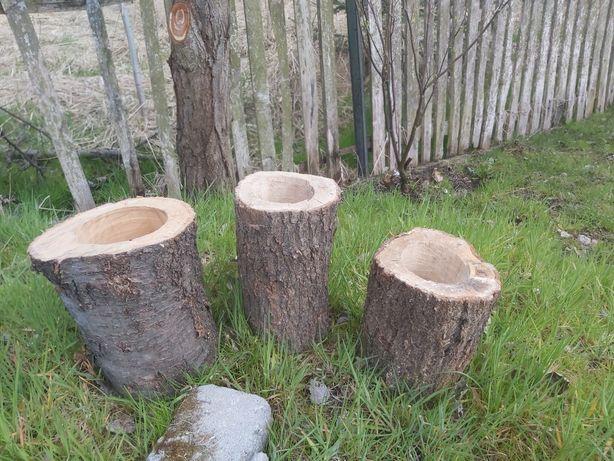 Donice ogrodowe z pnia drzewa
