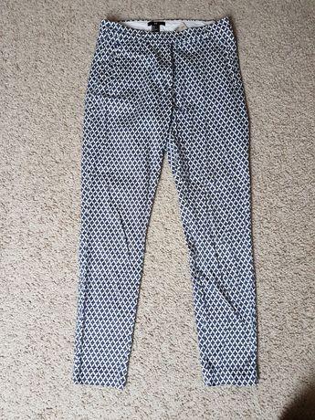 Bawełniane spodnie typu chinos h&m