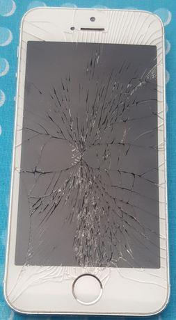 Sprzedam tanio srebrny Iphone 5S na części - uszkodzony okazja