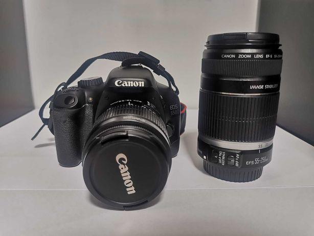 Canon EOS 550D + 2 Lentes + Mochila de Transporte