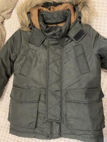 Зимняя курточка ZARA  пух/перо, размер 116