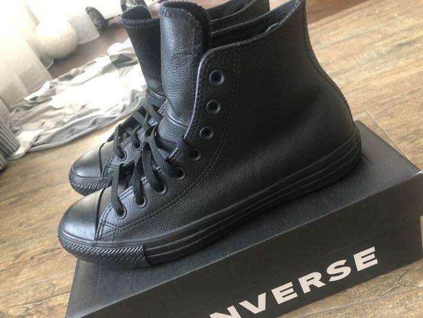 Кеди Converse. Конверси. Шкіряне взуття.