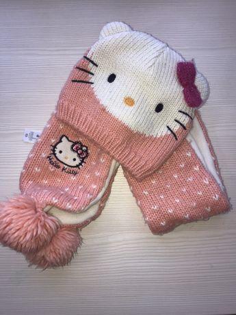 Комплект Hello Kitty (шапка и шарфик)