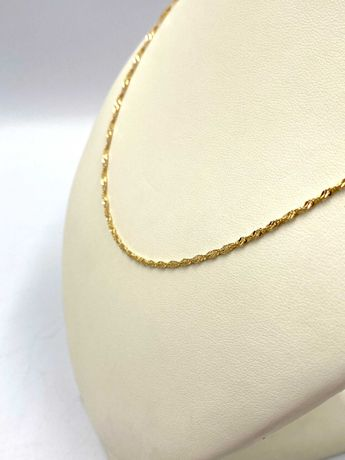 Nieużywany złoty Łańcuszek Pr. 585 Waga: 2,71 G PLUS LOMBARD
